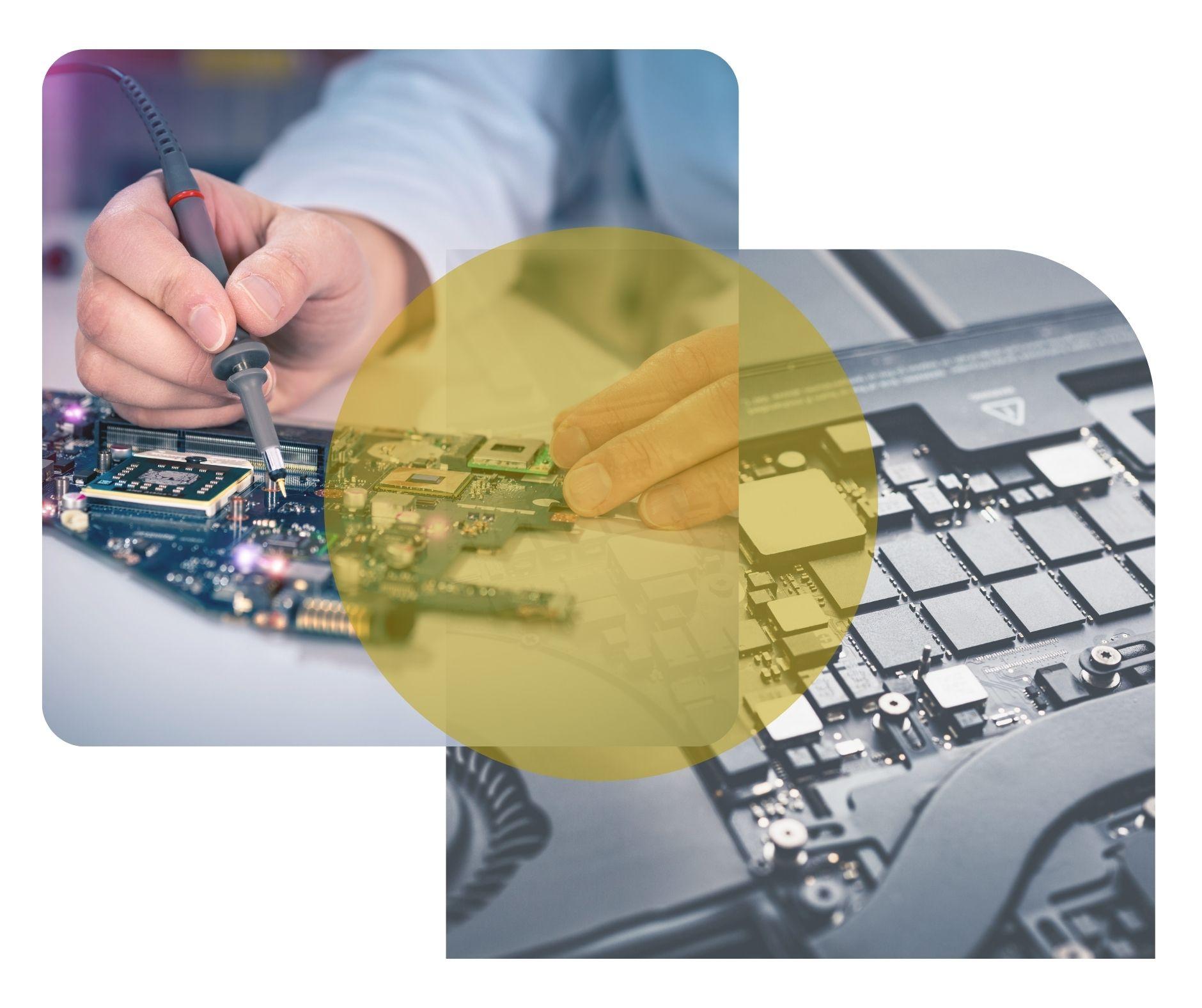 technicien informatique reparant carte mere Tassin